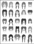 Women's Hair - Set 1
