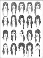 Men's Hair - Set 6 by dark-sheikah