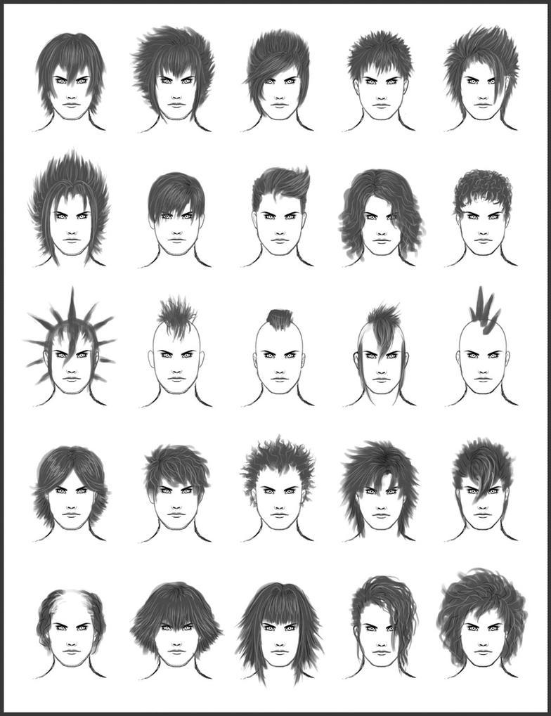 Men's Hair - Set 7 by dark-sheikah
