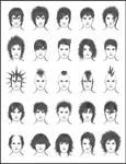 Men's Hair - Set 7
