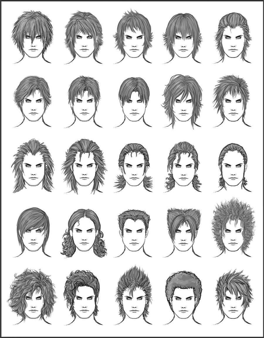 Men's Hair - Set 8 by dark-sheikah