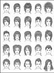 Men's Hair - Set 9