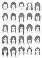 Men's Hair - Set 10 by dark-sheikah
