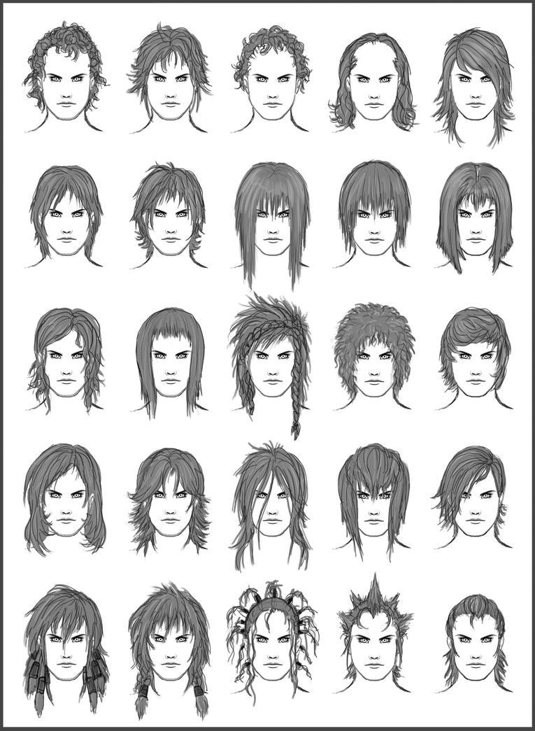 Men's Hair - Set 10 by dark-sheikah