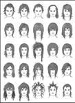 Men's Hair - Set 10