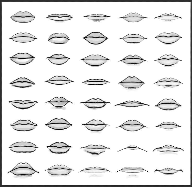 Lip Shapes by dark-sheikah on DeviantArt