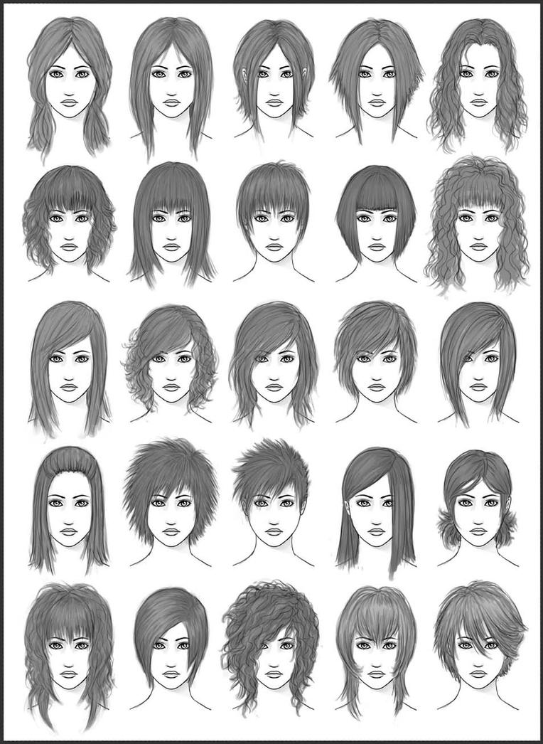Womens Hair Set 2 By Dark sheikah On DeviantArt