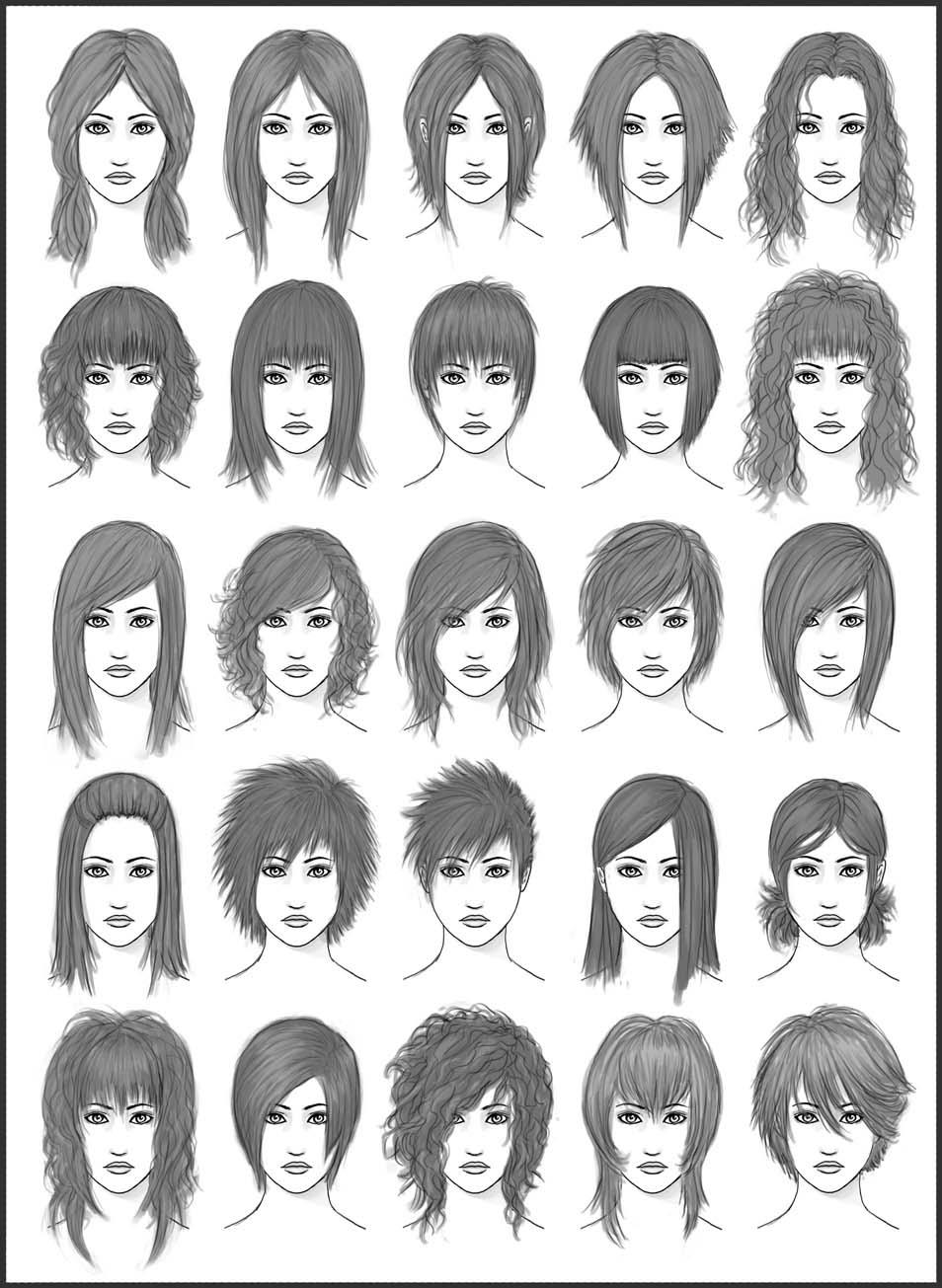 Womens Hair - Set 2 by dark-sheikah on DeviantArt