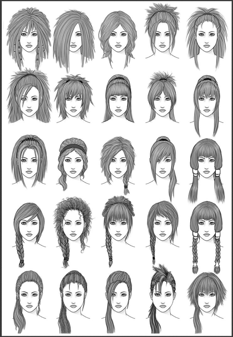 Women's Hair - Set 3 by dark-sheikah