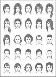 Men's Hair - Set 12