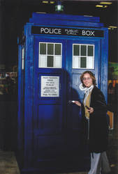 Eighth Doctor and TARDIS - Austin ComicCon 2014