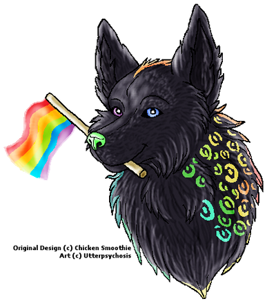 Gay Pride Freebie for Chicken Smoothie by ABOMinableSpectra