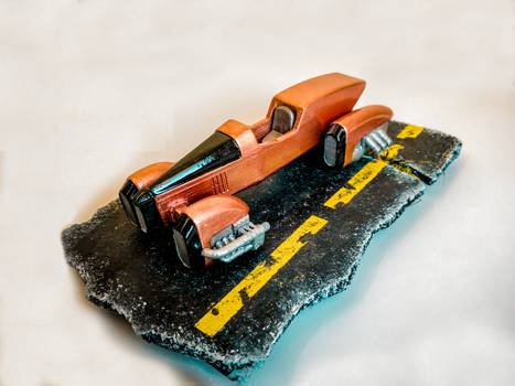 Hover Dieselpunk car 3d printed