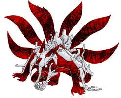 6th Tailed Kyubi by creative-nerd