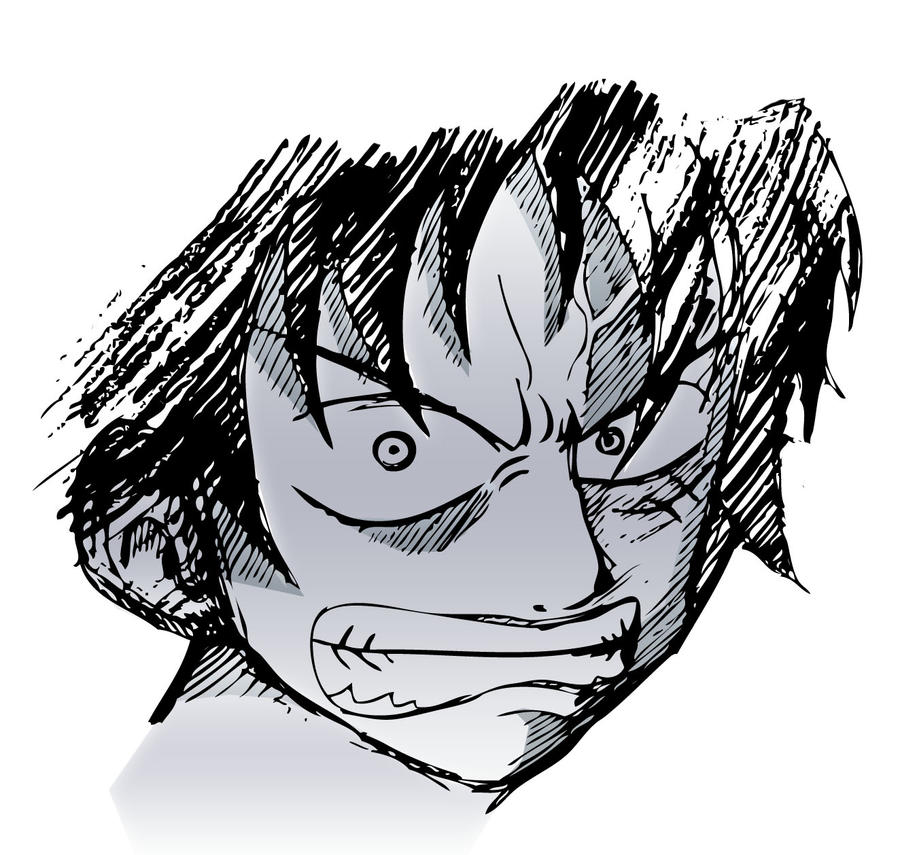 Angry Luffy By Creative Nerd