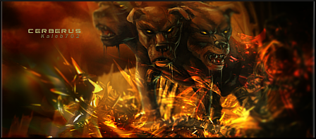 Your most recent artwork piece: Show it off! - Page 2 Cerberus_signature_by_3dblenderrender-d3978yb