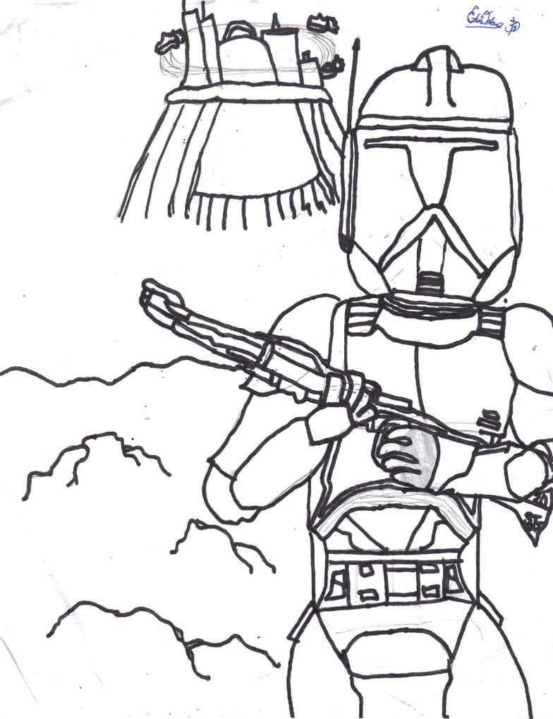 storm trooper coloring page - storm trooper by ee3000 on deviantart