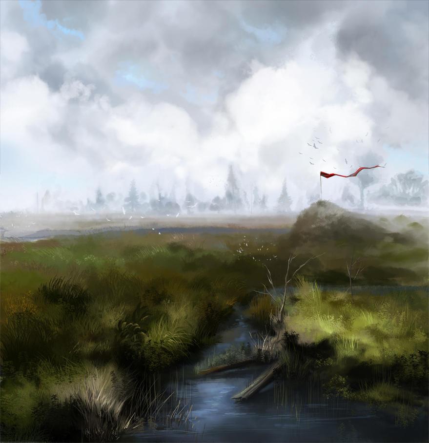 Swamp after rain by PurpleLemon13