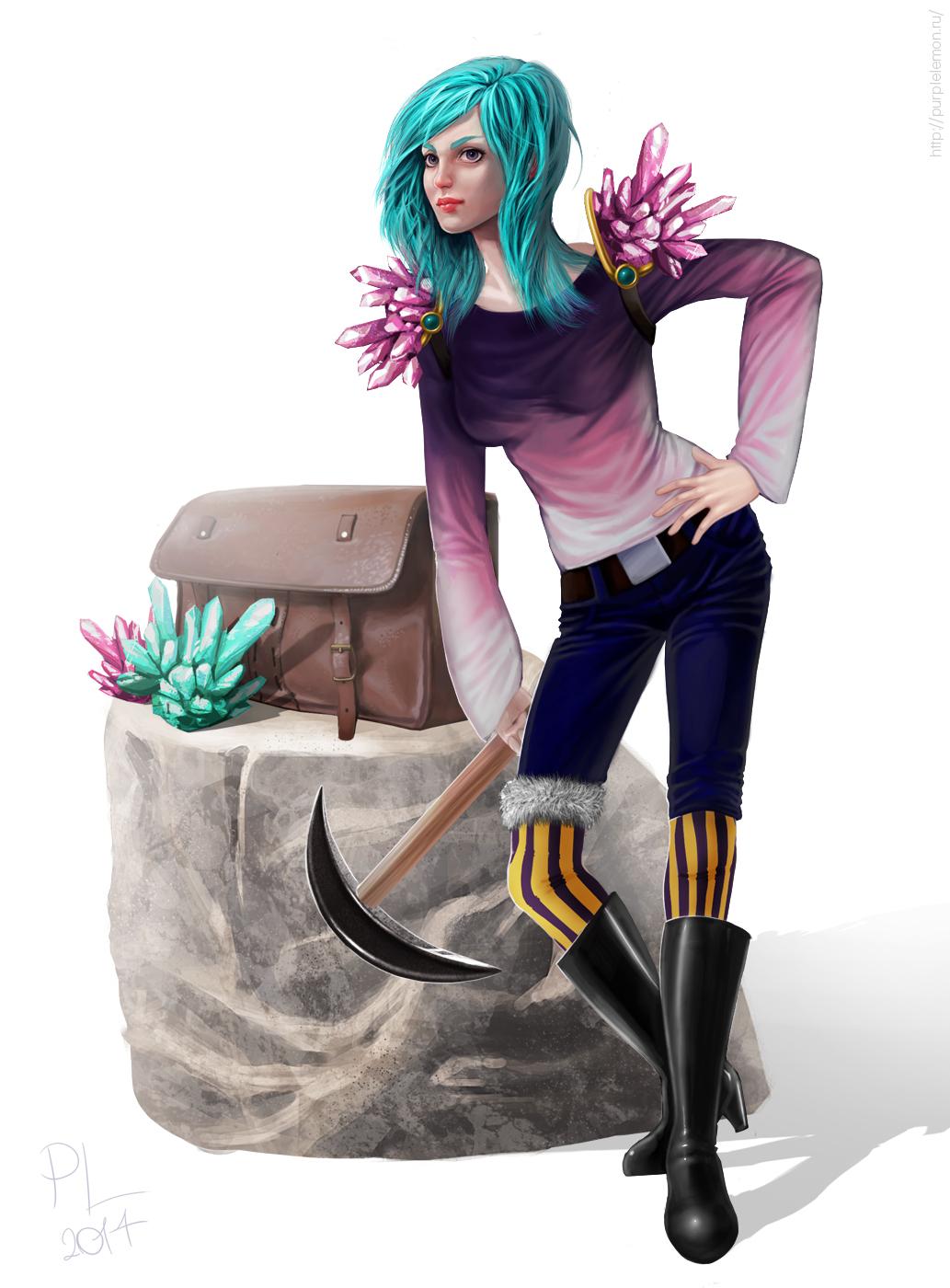 Miner by PurpleLemon13