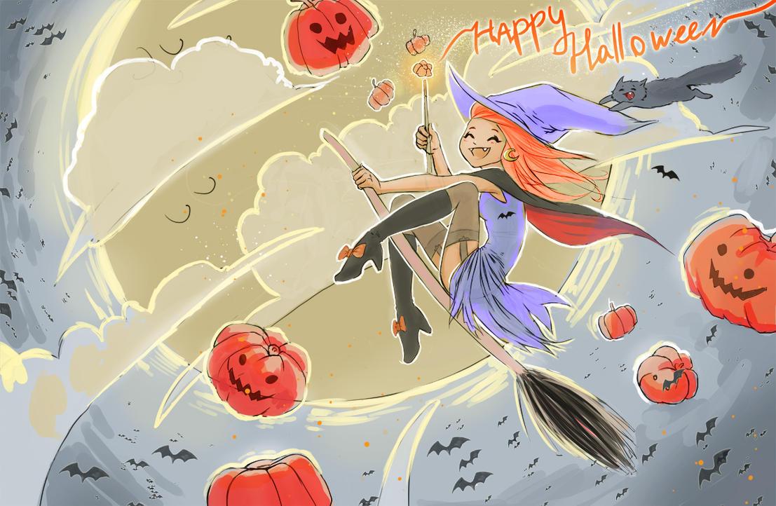 Happy halloween by PurpleLemon13
