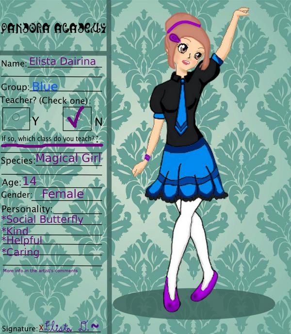 Pandora Academy  Application - Elista Dairina by VivaFariy