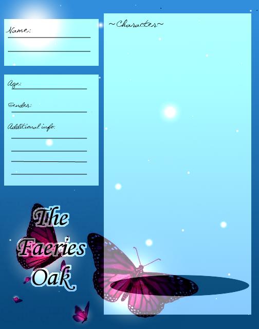 TheFaeriesOak OC Application      By: Jollyollypop by VivaFariy