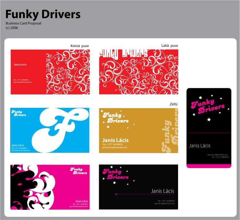 Funky Drivers Business Card by kavo00o on DeviantArt