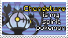 Chandelure Stamp by ElephantsWings