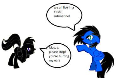 if Masae sings yoshi submarine loud near me by TheDarkDash