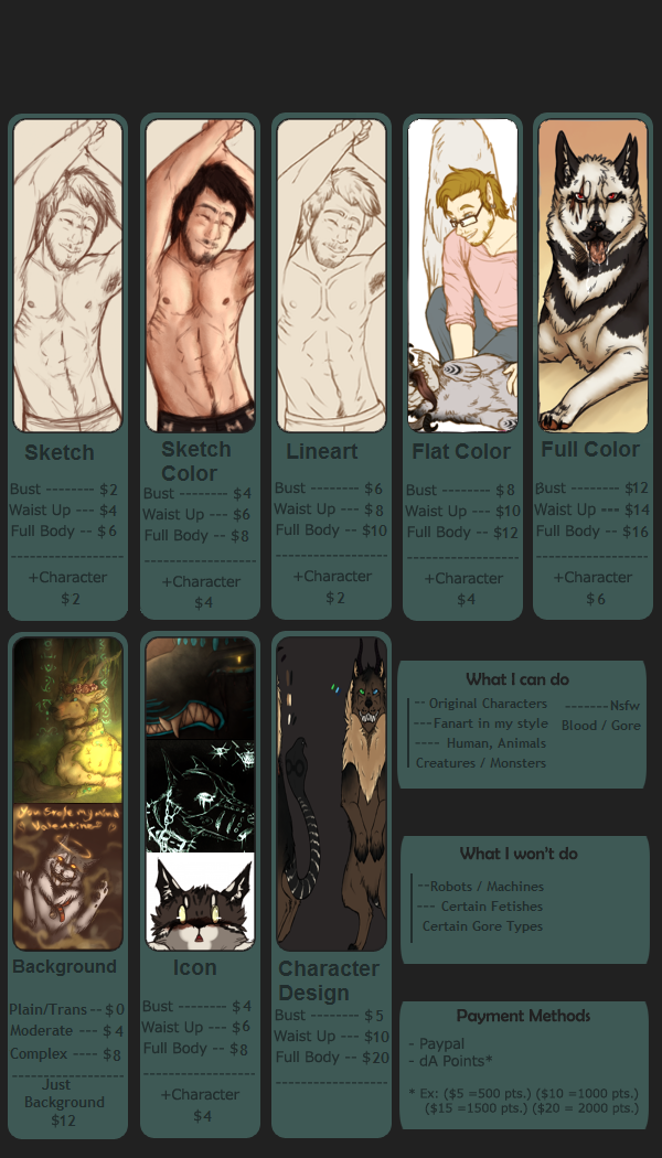 Commission Sheet .:OPEN:. by Evertooth