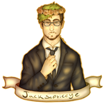 Jacksepticeye - Suit and flowers