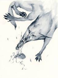 Dog and Ear by sarajacksonjihad