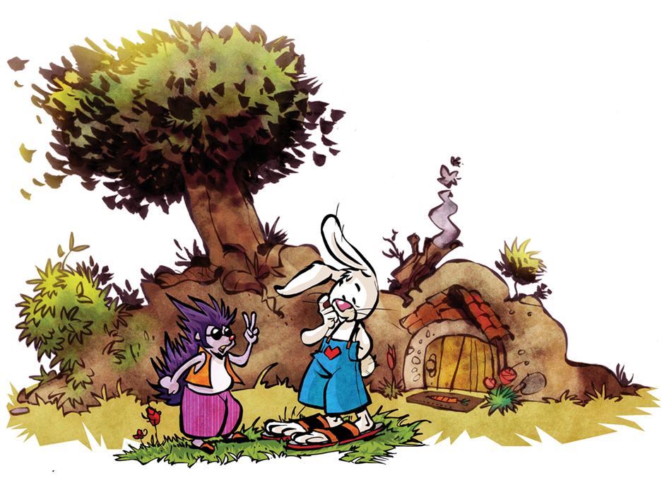 the rabbit and the hedgehog