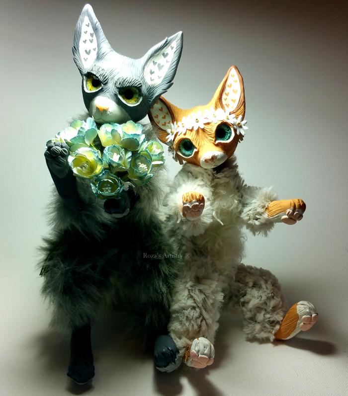 OOAK Vixen n Wolf by TotemEye