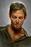 Daryl Dixon by padawana