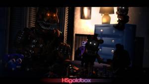 [FNaF SFM] Nightmare Freddy's family time by HSgoldbox