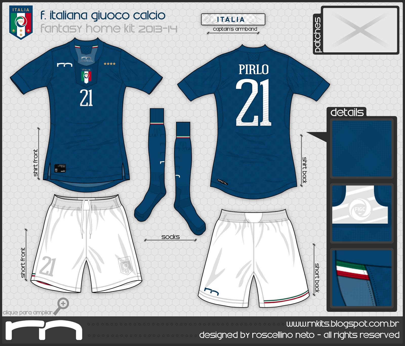 RN Kits  Seleção Italiana a04358f3a4cde