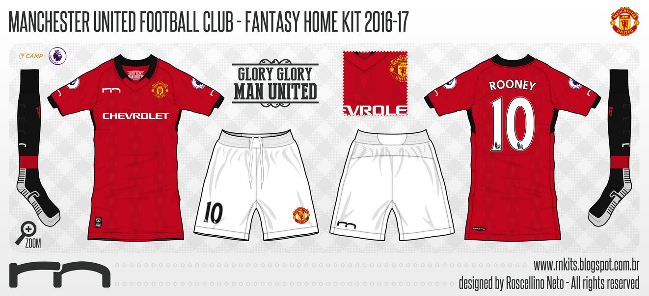 uniforme manchester united rn home by roscellinoneto on deviantart uniforme manchester united rn home by