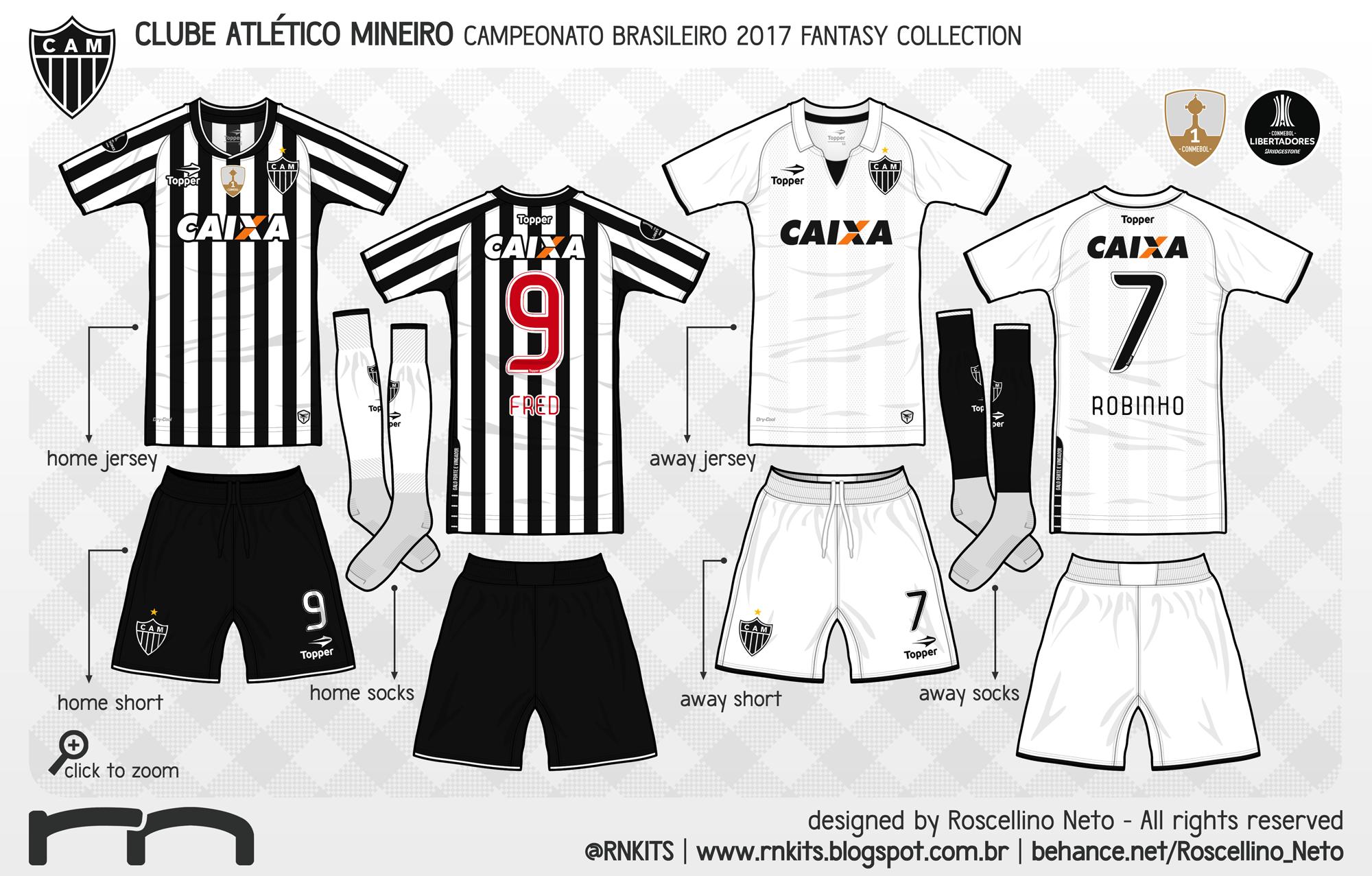 O kit away vem com camisa e meias em branco 37398aa634919
