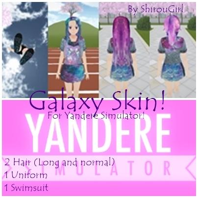 galaxy skin for yandere simulator by shirougirl on deviantart. Black Bedroom Furniture Sets. Home Design Ideas