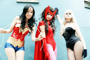 Wonder woman and friends by lulysalle