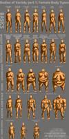 Bodies of Variety pt 1: Female body types