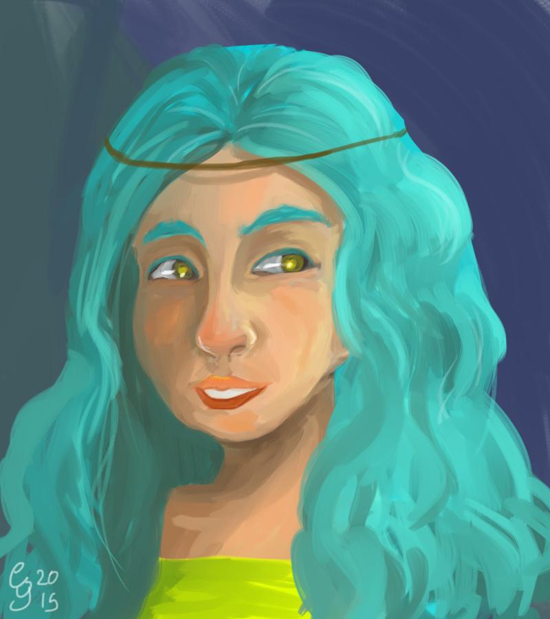 Blue Girl by Renacido