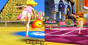 Princess panties in Mario Tennis Open