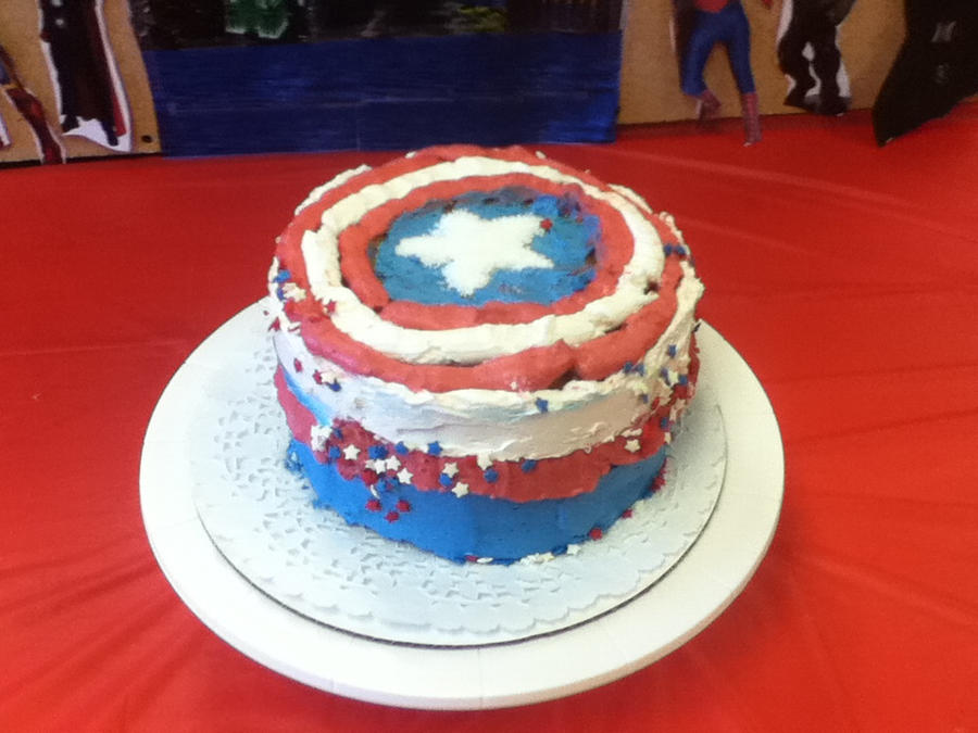 Captain America Cake by AgentLaffey119 on DeviantArt