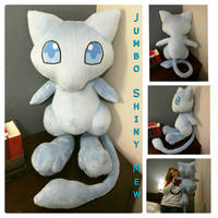 Shiny Mew Plush by SabakuNoYoukai