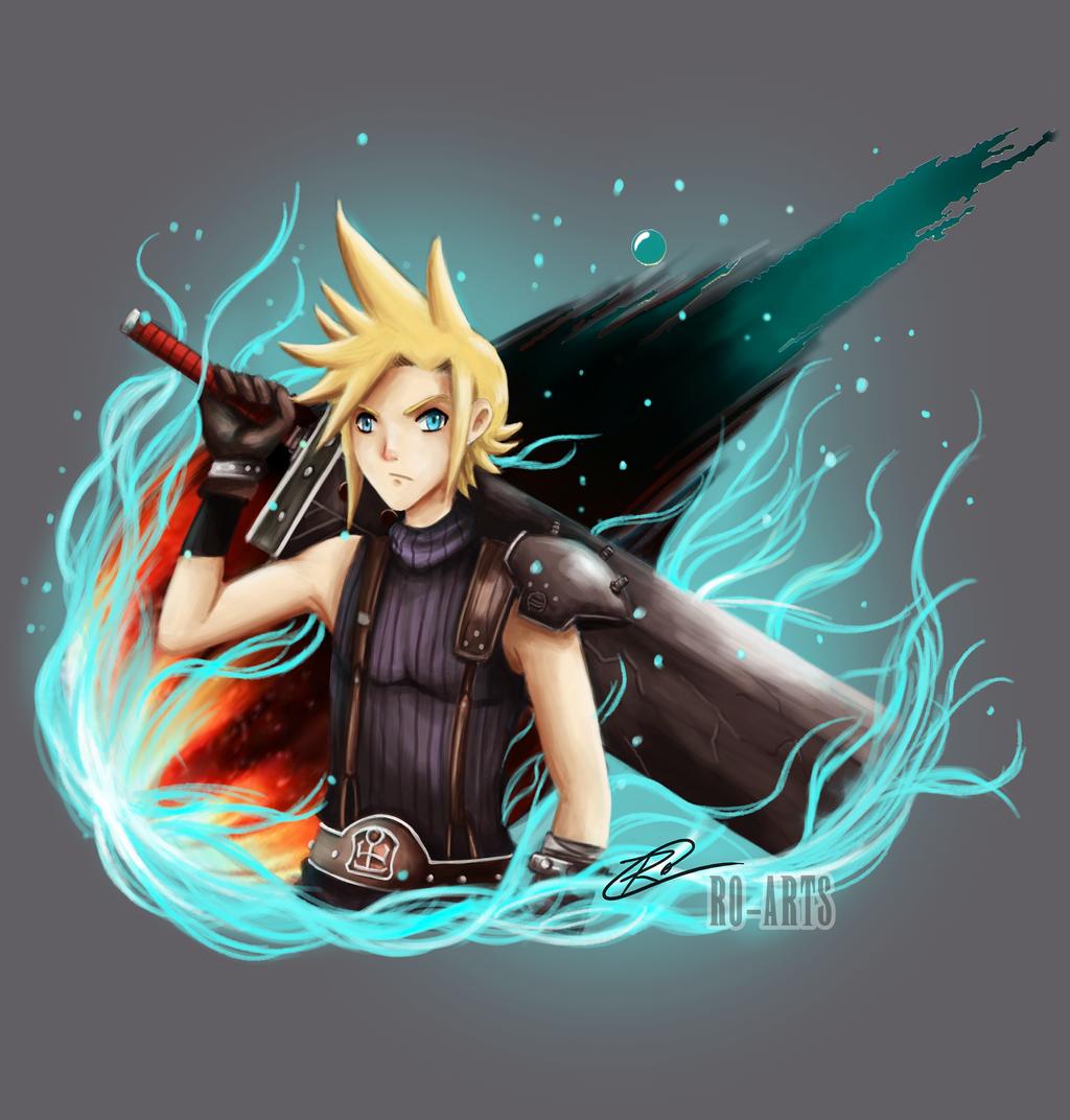 Final Fantasy Cloud Strife Wallpaper: Cloud Strife By Ro-Arts On DeviantArt