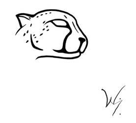 cheetah tattoo by skeets011