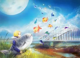 Catch a flying fish by Zetsuboushi