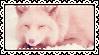 Pink Fox Stamp by LittleTornSoul